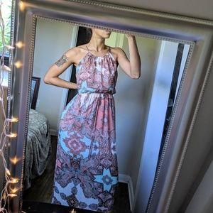 Pink & Baby Blue Dress